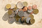 Many old and mixed German Mark coins poster