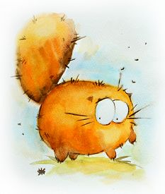 Funny Red Cat.