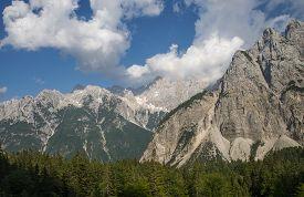 Mountain pass Vrsic, Julian alps, Slovenia