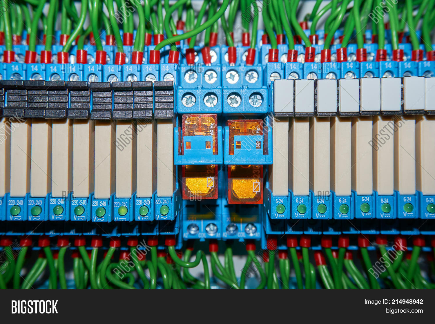 Some Electrical Relay Image Photo Free Trial Bigstock Panel Is Mounted On The Mounting Relays Inserted In Base Or