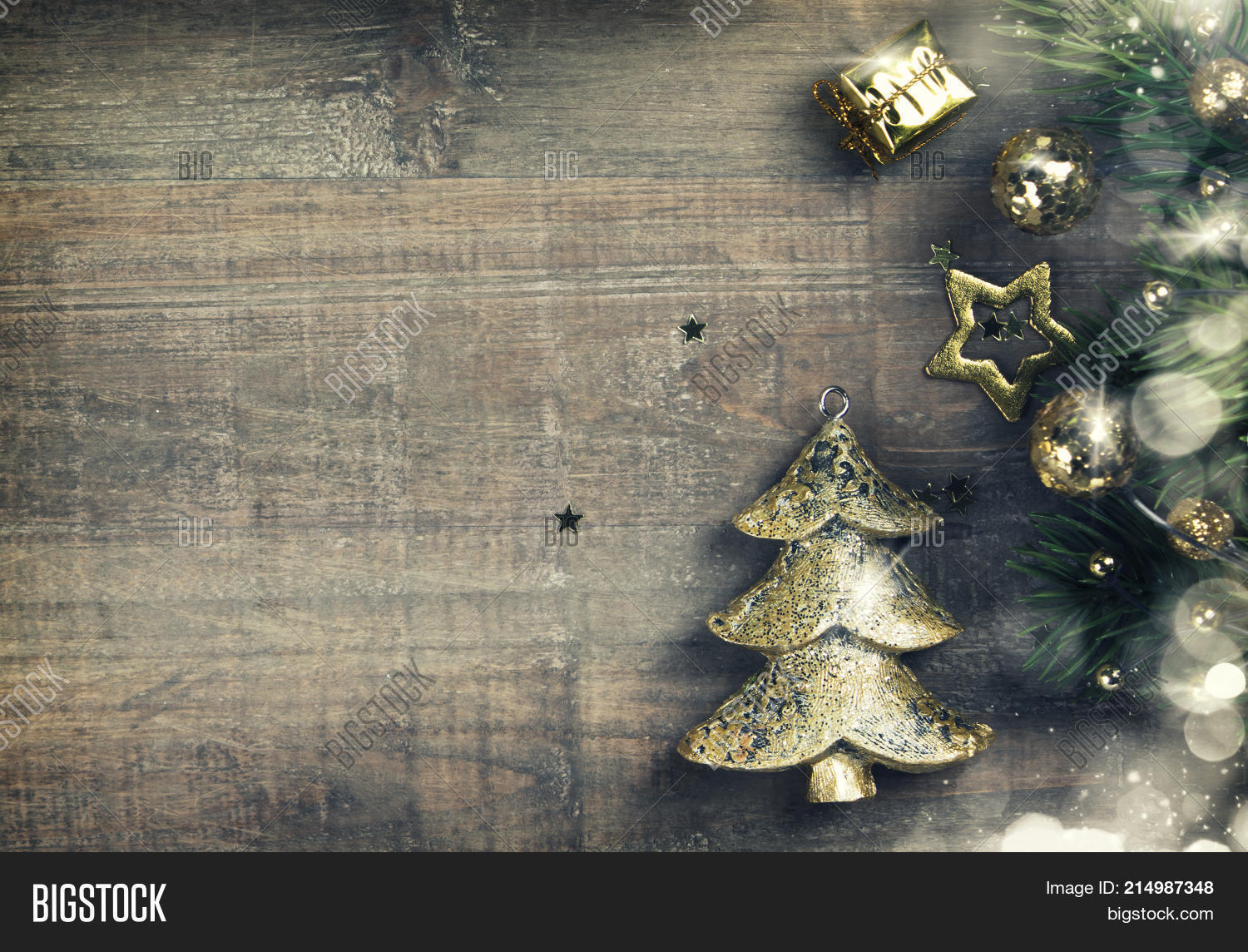 Rustic Wood Background For Christmas With Copy Space All Design Old Texture