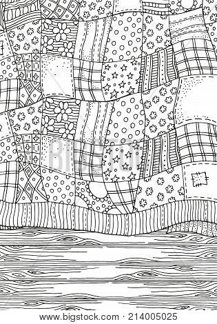 Quilt Blanket, Wooden Floor.