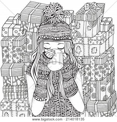 Winter Girl And Gifts