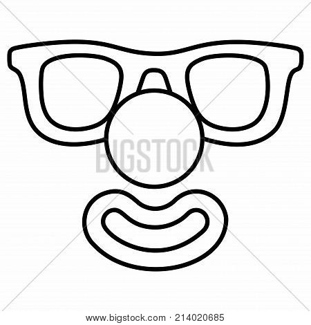 Clown Face Mask Smile Fun Laughter Nose Glasses
