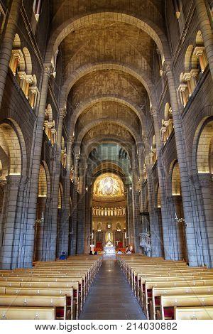 Monaco-ville, Monaco - July 11: Interior Of Saint Nicholas Cathedral On July 11, 2015 In  In Monaco-