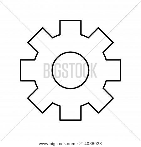 Gear of cog circle and wheel theme Isolated design Vector illustration