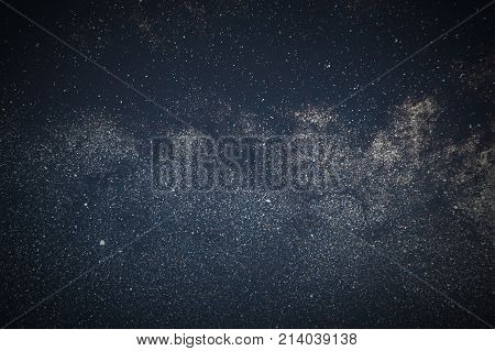 Milky Way Galaxy Background Close-up Of Milky Way. Long Exposure Photograph.