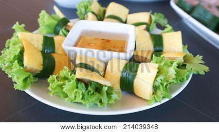 egg roll Vietnamese roll or Vietnamese food