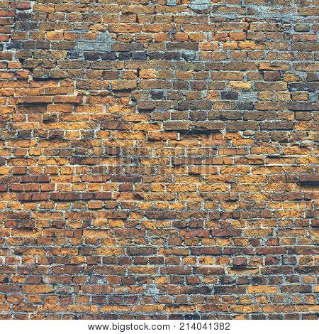 Very Old Brick Wall
