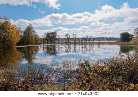 black dog lake within minnesota valley national wildlife refuge in eagan minnesota