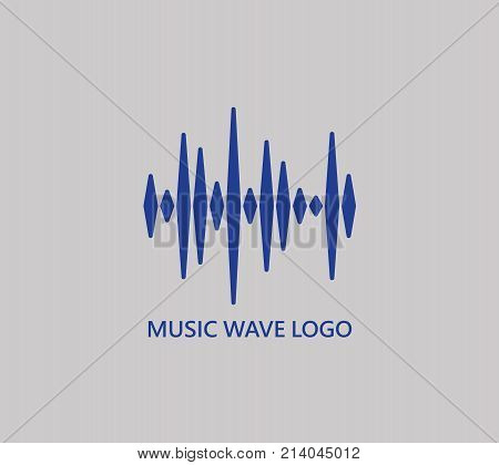 Music wave symbol. Pulse music player logo. Vector colorful equalizer element. Sound Wave Illustration.