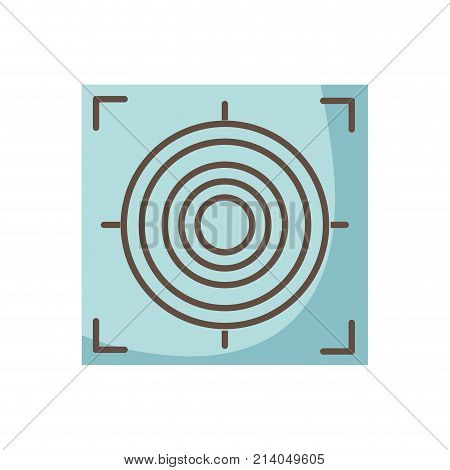 gun sight circle with shooting focus vector illustration