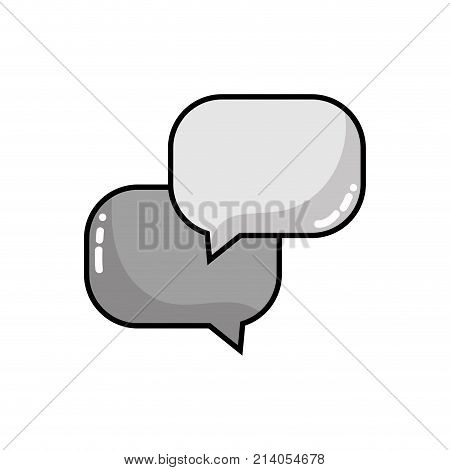 grayscale chat bubbles message text notes vector illustration
