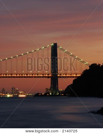 Gwb And Nyc Sunset 003