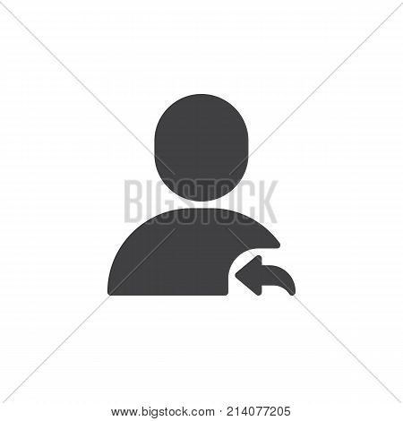 User reply icon vector, filled flat sign, solid pictogram isolated on white. Symbol, logo illustration.