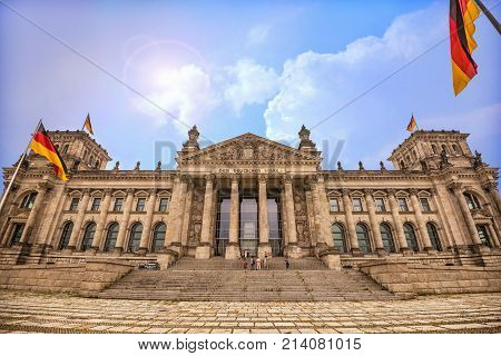 The German parliament building known as Reichstag in Berlin.