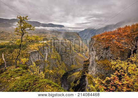 Mabodalen valley situated betwen Hardangervidda and Hardangerfjord National Parks, in the municipality of Eidfjord, Norway.