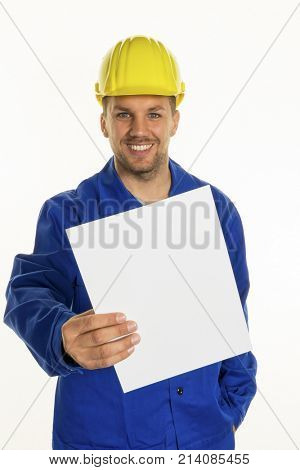craftsman with empty sheet