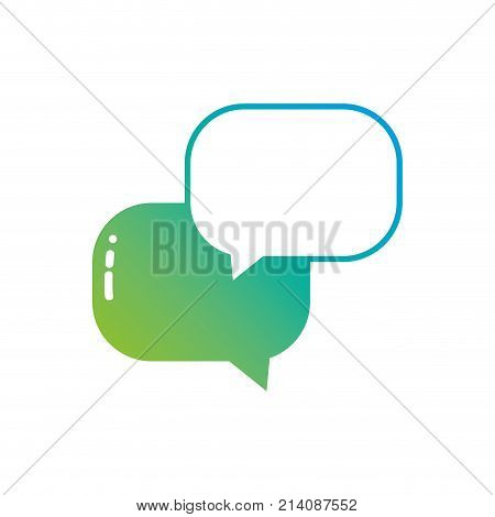 silhouette chat bubbles message text notes vector illustration
