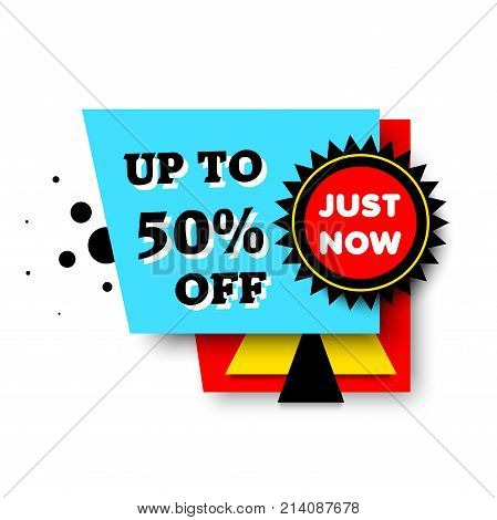 Big sale banner. Limited time for special offer and discounts, bright sign for shop customers. Vector flat style cartoon illustration isolated on white background