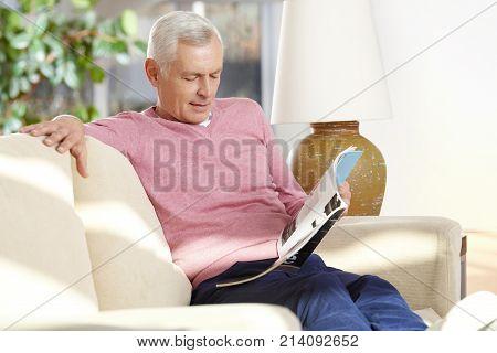 Senior Man Enjoy His Free Time