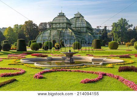 Palm House In Schonbrunn Palace Garden