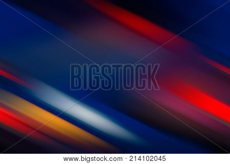 Abstract Background - Multicolored Diagonal Lines. Blurred background. Design Element. Bright Colors. Red Blue Orange.