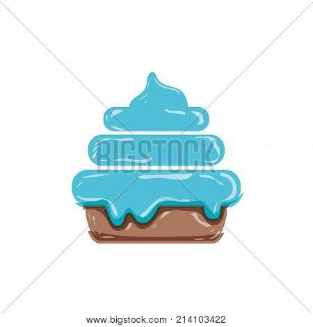 delicious cake sweet dessert food vector illustration
