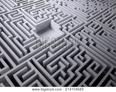 Labyrinth Maze With Empty Space Inside