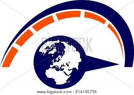 Global Turbo Fast Logo Design Template Vector