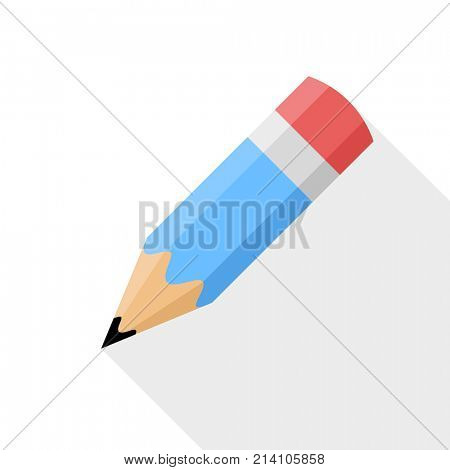 Pencil. Flat Design icon