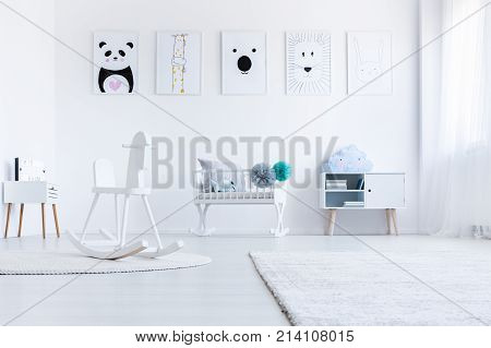 White Baby's Bedroom Interior
