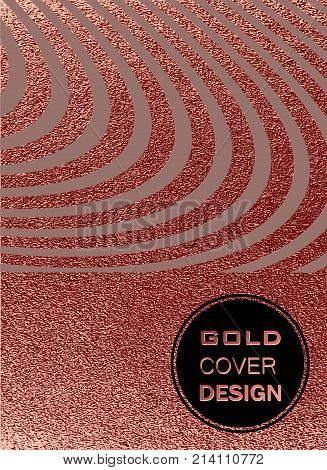 Modern And Stylish Minimal Design. Copper Glossy Background. Metallic Texture. Bronze Metal .