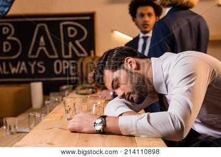 Drunk Businessman In Bar