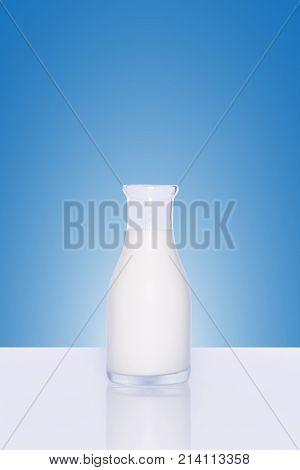 Bottle Of Milk On White Background