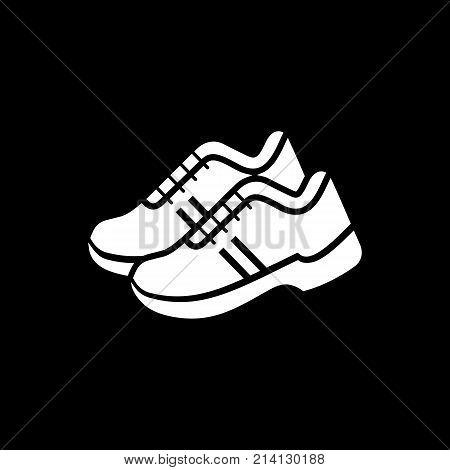 Sport Sneakers Footwear Simple Flat Style Icon