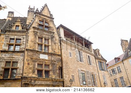 Buildings In Sarlat La Caneda Made Of Stone, France