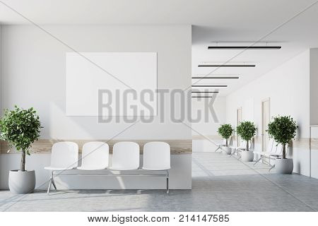 White Hospital Lobby, Poster