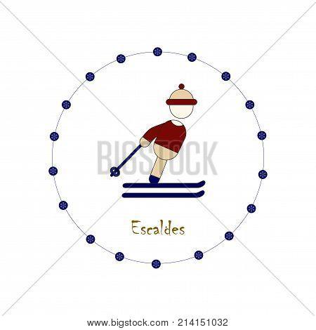 flat icons on theme of Andorra Escaldes