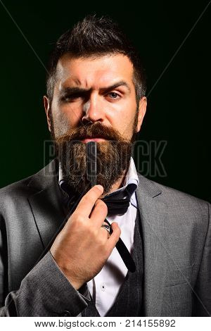 Handsome Businessman Wearing A Suit And A Tie
