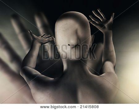 abstrakt verzerrten Bodypainting