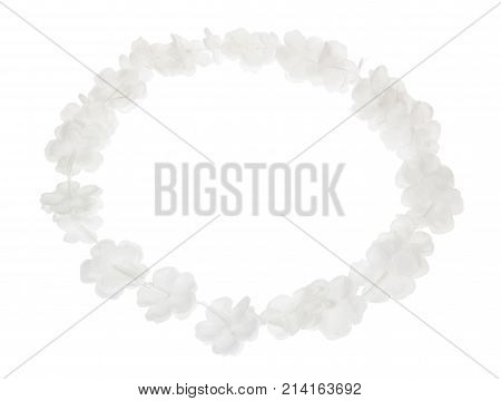 Paper Garland on an Isolated White Background