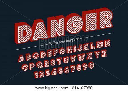Decorative vector vintage retro typeface, shadow, font, typeface. Color swatches control