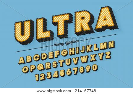 Decorative vector modern typeface, shadow, font, typeface Color swatches control