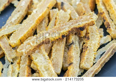 Dried Sliced Roasted Buffalo Skin Ready For Cooking