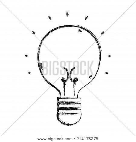 figure light bulb idea to creative invention vector illustration