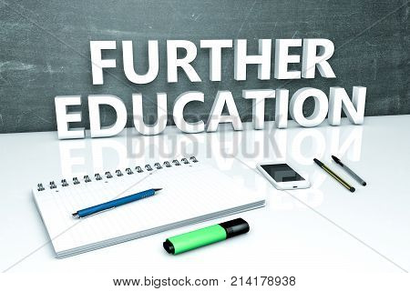 Further Education Text Concept