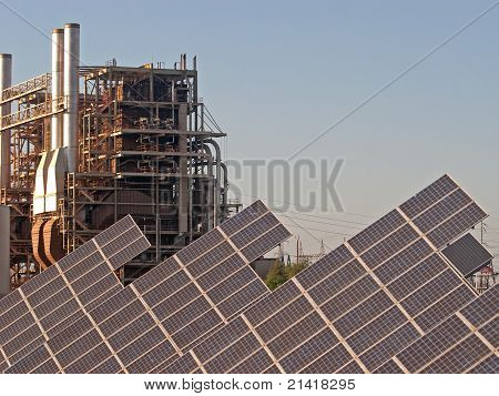 Powerplant with Solar Panels