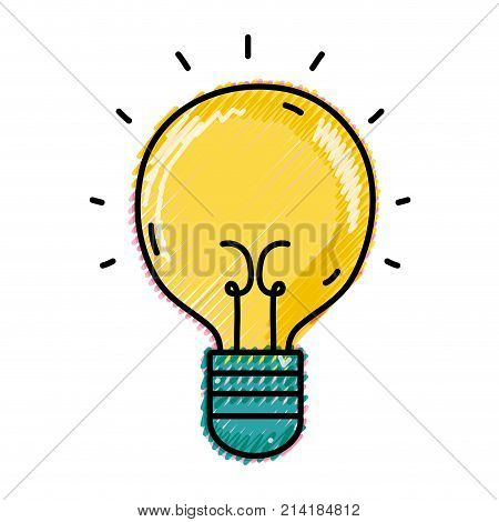 grated light bulb idea to creative invention vector illustration