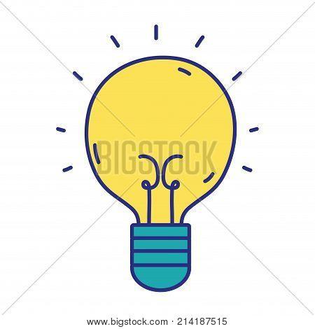 light bulb idea to creative invention vector illustration